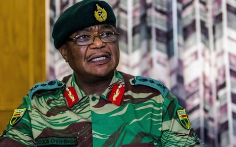 General Constantine Chiwenga who deposed President Mugabe in coup in Harare in November 2017