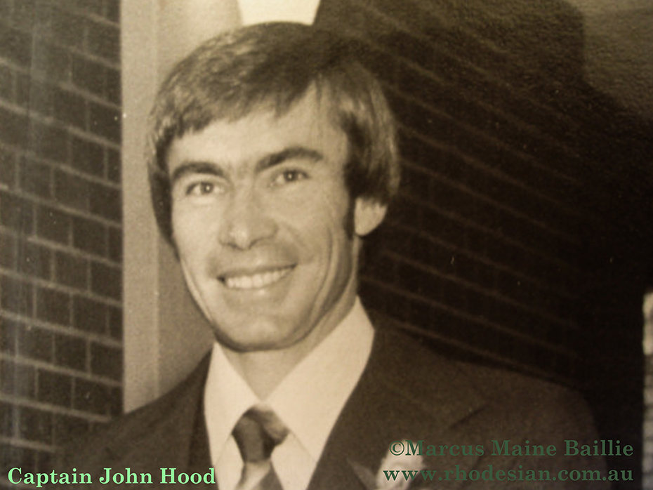 Captain John Hood Air Rhodesia pilot of Viscount Hunyani that he crash landed after a hit bya missile fired by ZIPRA