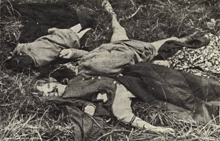 Photo of victims of Elim Mission massacre bludgeoned on 23 June 1978 in Rhodesia by ZANLA