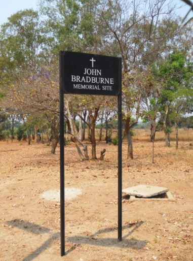 Site where martyr John Bradburne was shot by Mugabe ZANLA forces at Mtoko in September 1979