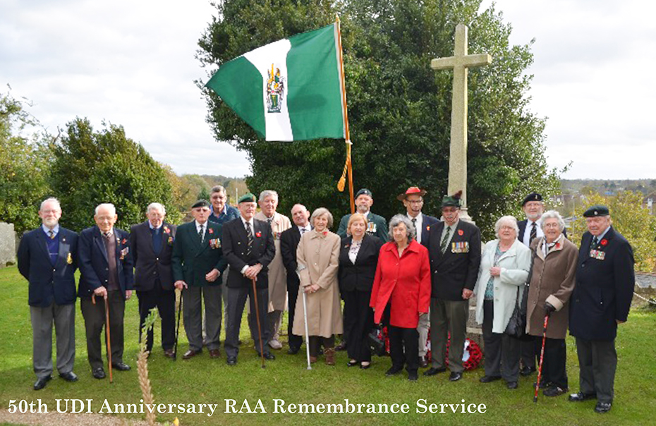 Rhodesian Army Association 50th Anniversary UDI  Remembrance Service UK 2015