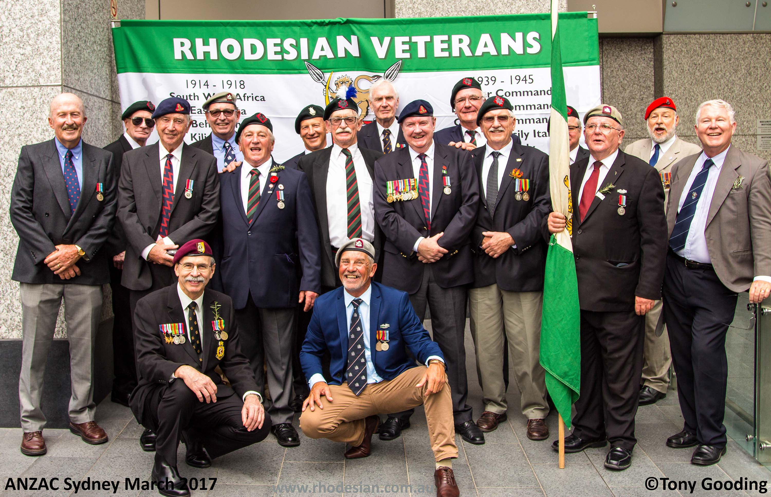 Rhodesian veterans after ANZAC Day March in Sydney in 2017