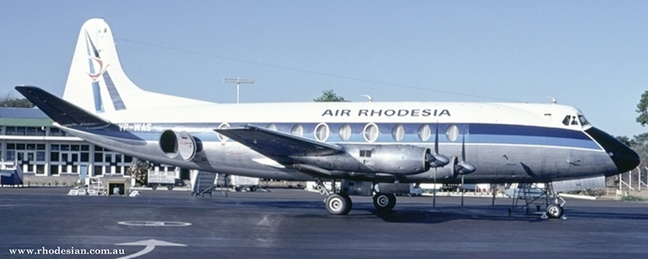 Air Rhodesia Viscount Hunyani that was shot down on 3rd September 1978 on Flight RH825