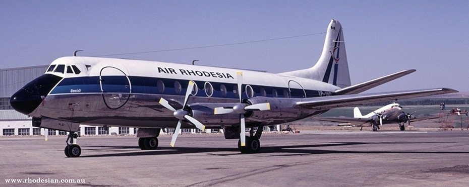 Air Rhodesia Viscount Umniatia that was shot down on Flight RH827 on 12th February 1979 with no survivors
