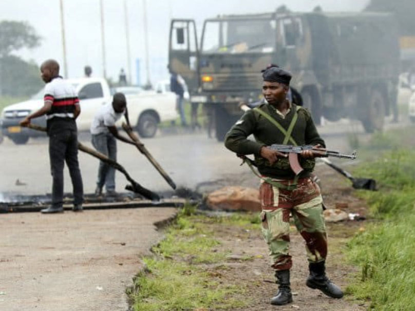 Zimbabwe troops systemically target protestors in Zimbabwe