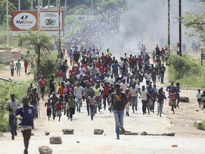 Protests break out prompted by 130% fuel price increase in Zimbabwe