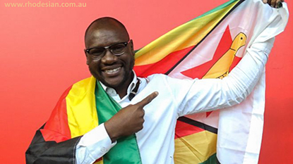 Ewan Mawarire founder of theFlag movemnet after his acquittal from trumped up cahrges in Zimbabwe