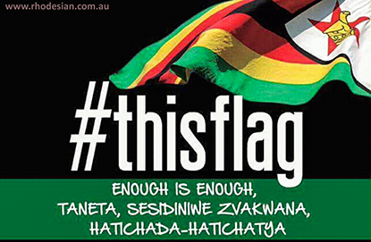 #thisflag has become symbol of protest in Zimbabwe